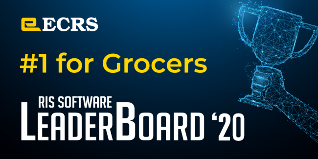 ECRS Ranked #1 for Grocers in 2020