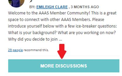 Click More Discussions to see community's discussions.