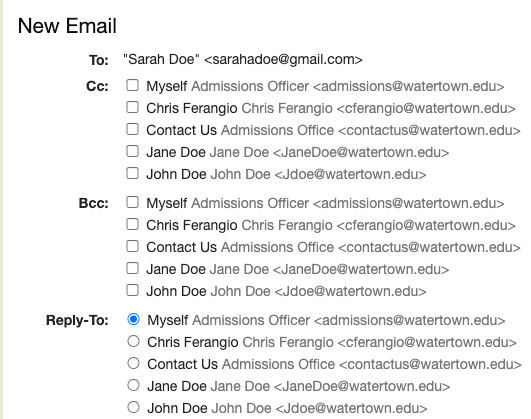Added Emails