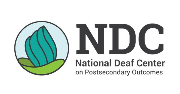 National Deaf Center on Postsecondary Outcomes (NDC) logo