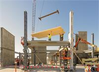 Installation of cross laminated timber system on the 640,000 sqft campus