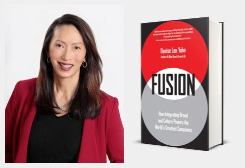 Denise Lee Yohn and her book, Fusion