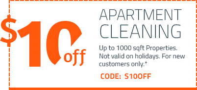 Apartment coupon for cleaning house