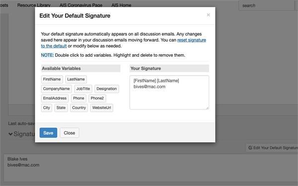 Screen shot of master signature