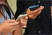 Students holding phones