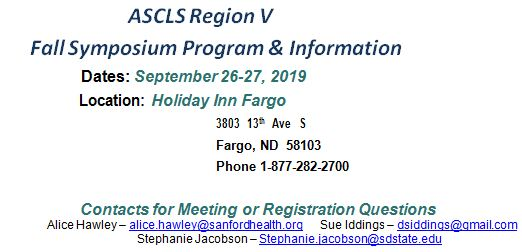 Information about the ASCLS Region V Symposium