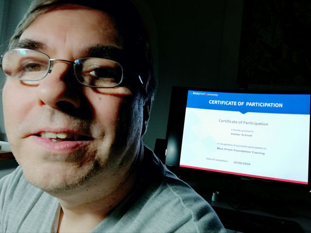 Selfie with Certificate of Participation