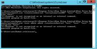 Error : c:\program is not recognized as internal or external command