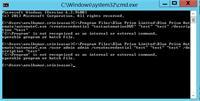 Error : c:\program is not recognized as internal or external command