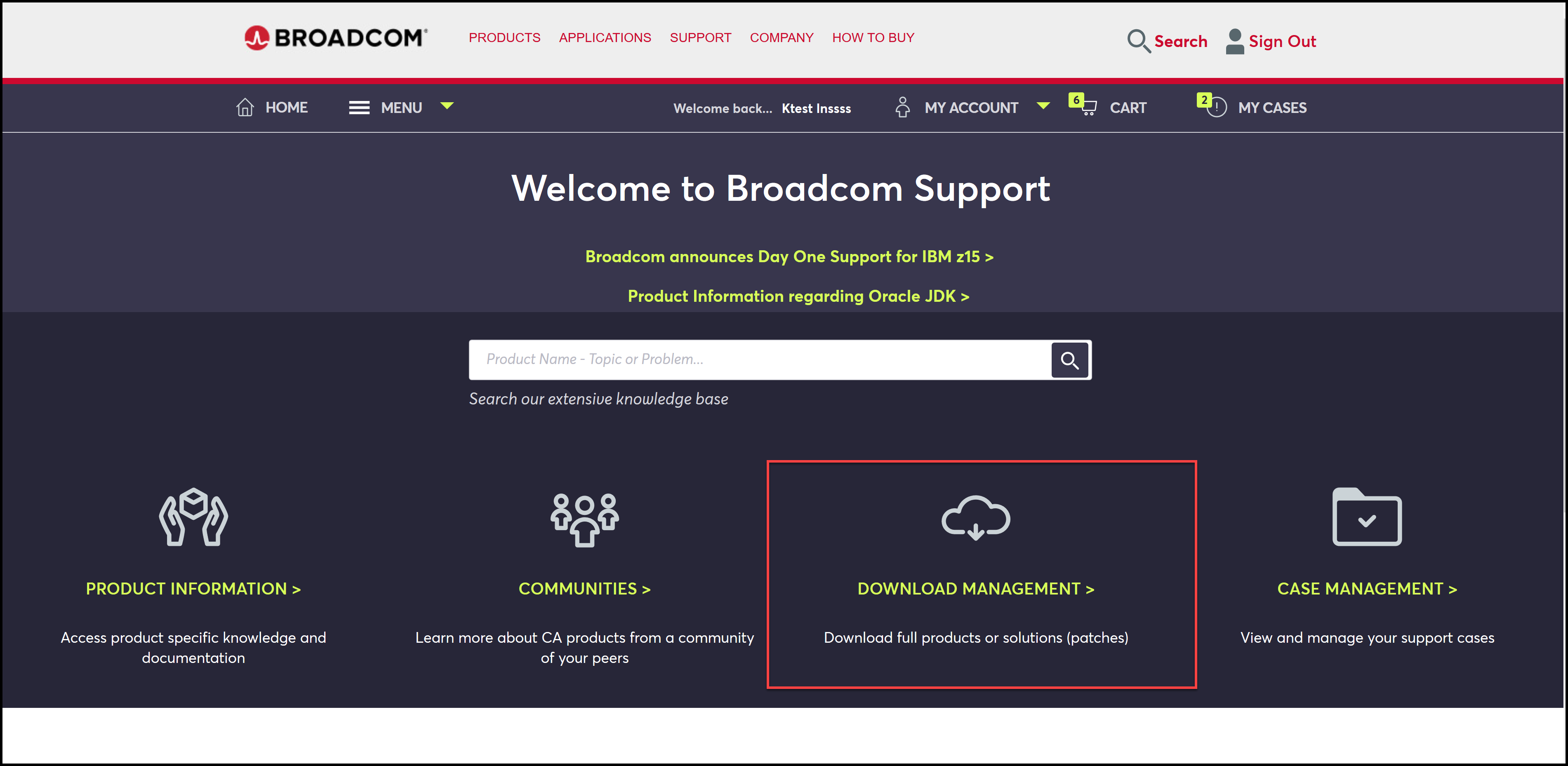 CA Support Download Management FTP Guide