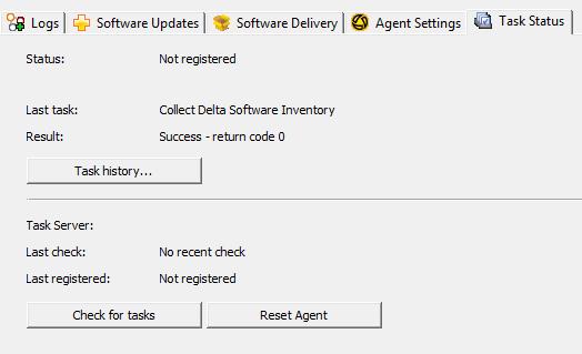 status task server not register