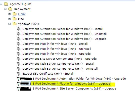8.5 RU4 Deployment Plug-in for Windows (x64) - Upgrade