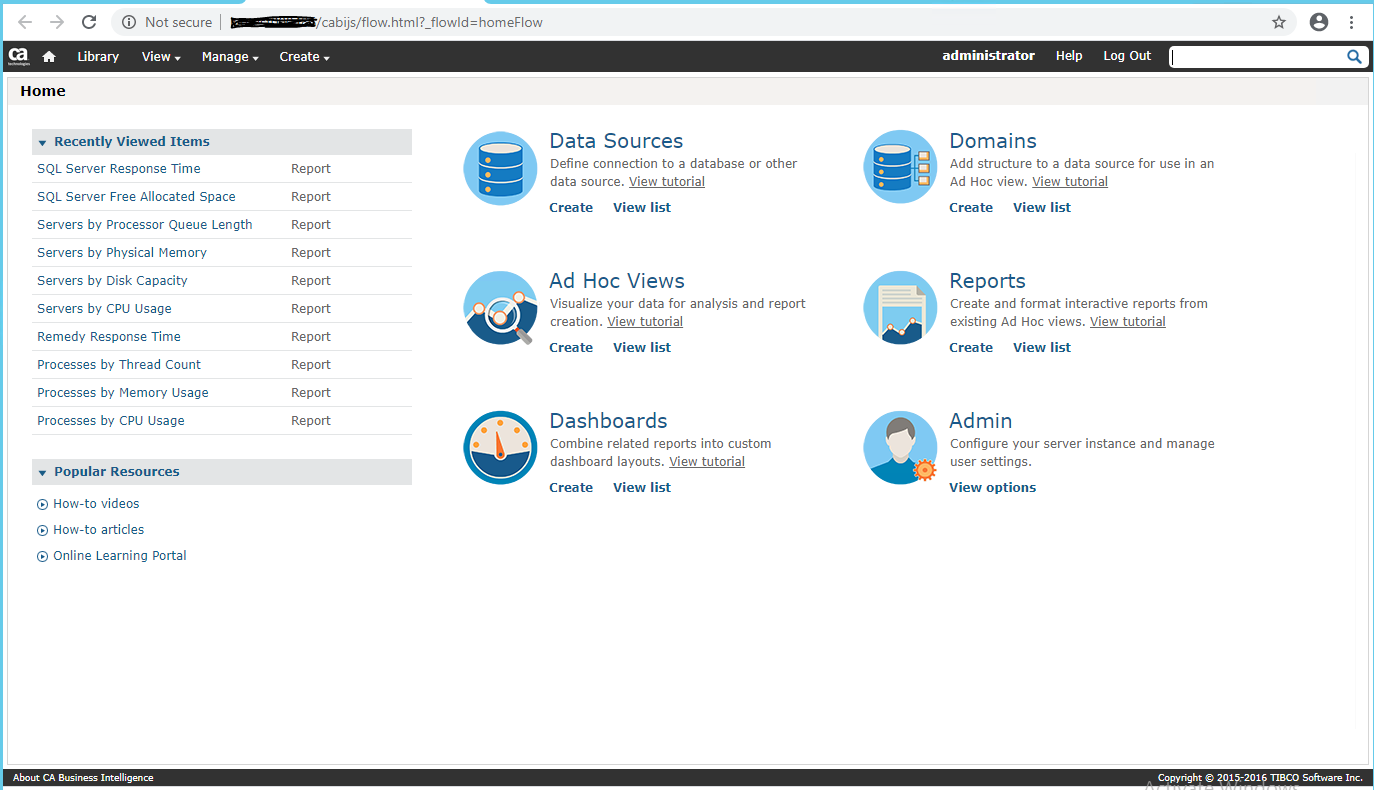 CABI Server home page