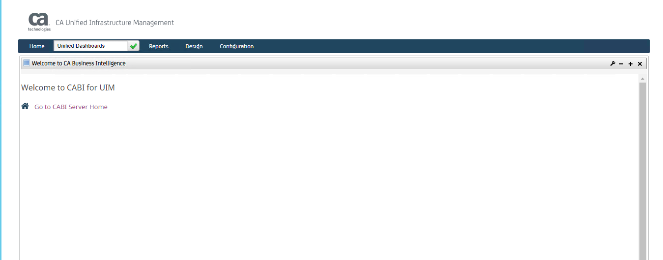 UIM CABI Welcome Page