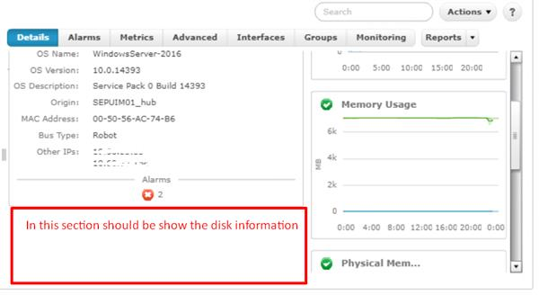 Dont show disk information in details Tab
