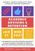Join Us on January 27, 2021 for a discussion on Academic Advising and Retention