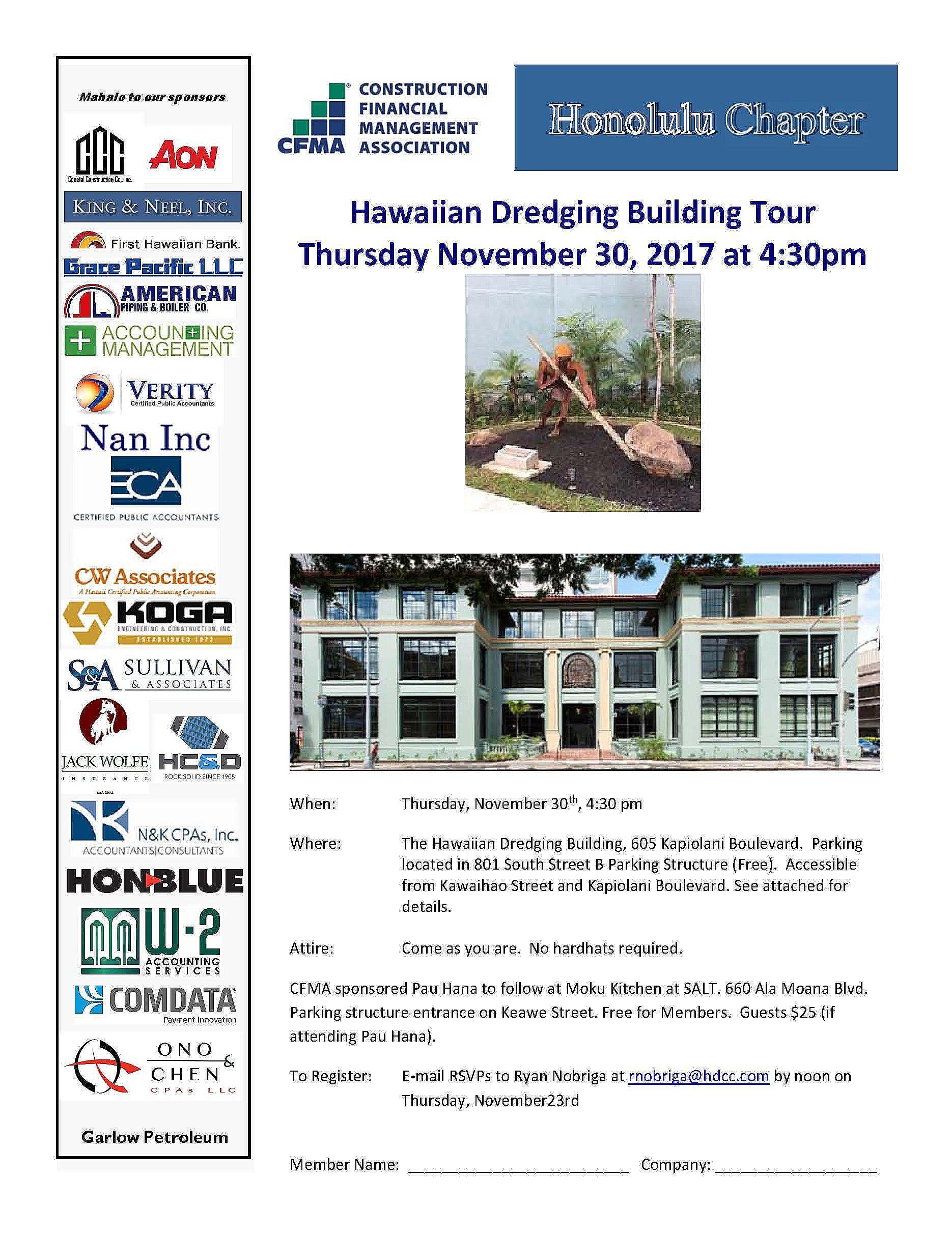 Hawaiian Dredging Building Tour - Honolulu