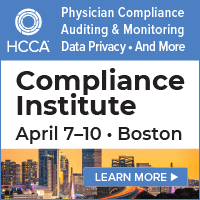2019 HCCA Compliance Institute