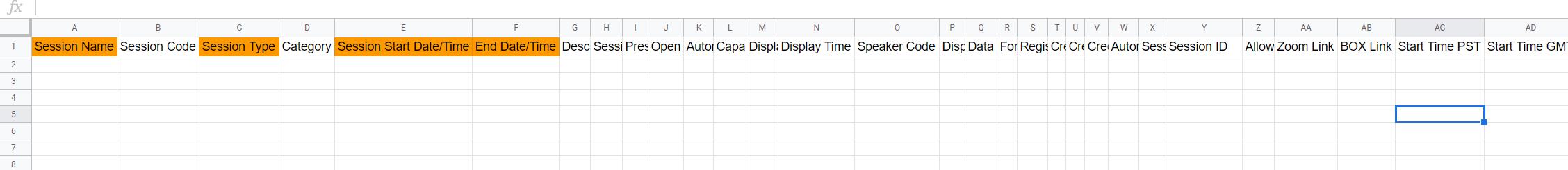 sample of csv to upload for data.