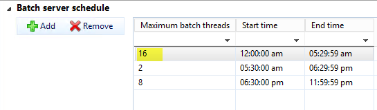 Max batch threads