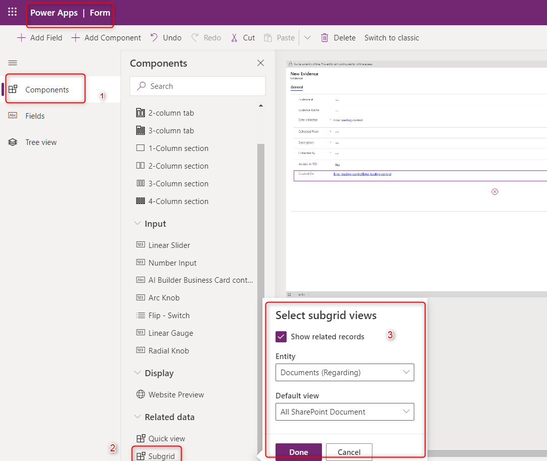 Power apps form designer can be open from the app designer from your model driven app