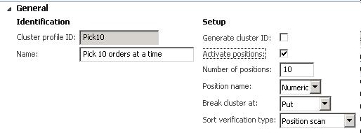 Cluster profile