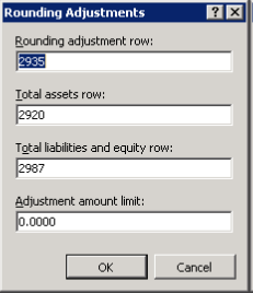 Rounding adjustments