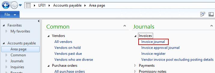 Invoice Journal
