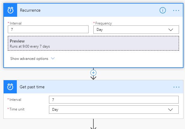 Screenshot of recurrence