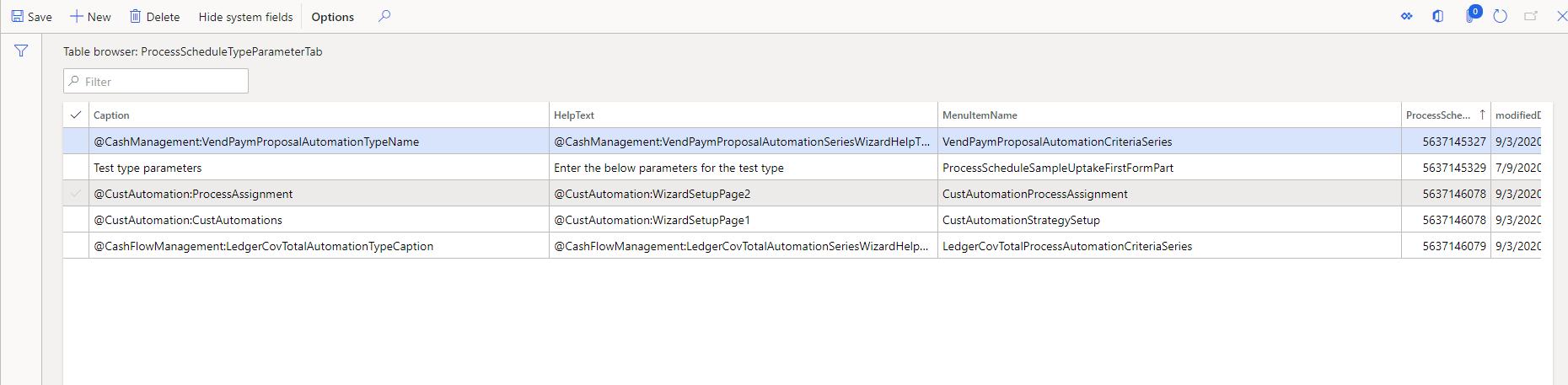 TableName: ProcessScheduleTypeParameterTab