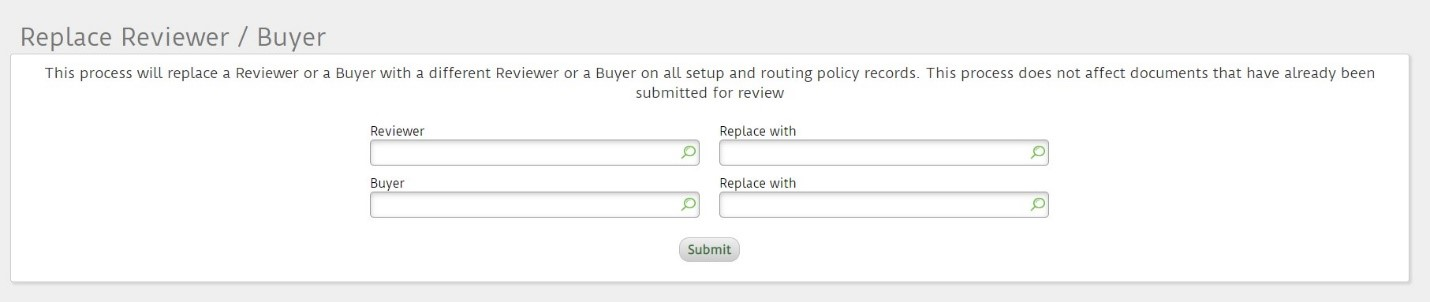 Replace reviewer or buyer utility