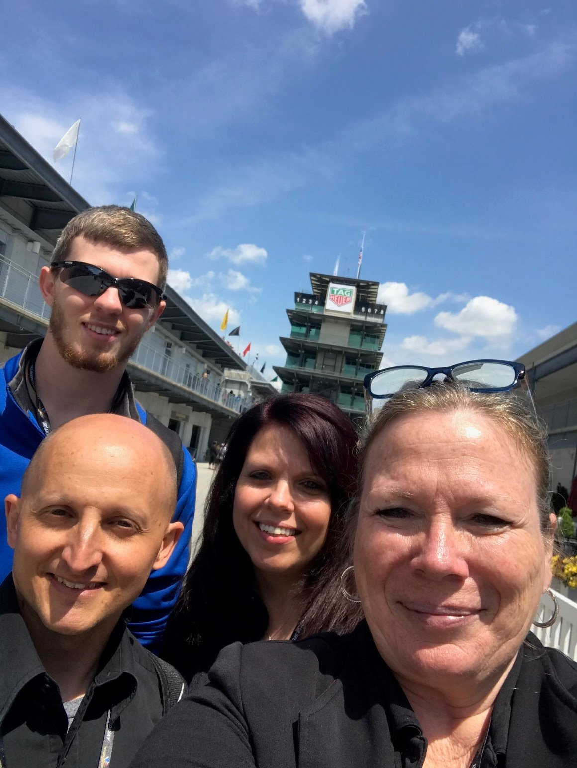 Hoosier Energy team enjoying Practice Day at the Indianapolis Motor Speedway after the Indiana GPUG Meeting