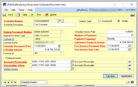 Scheduled Payment  Entry