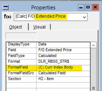 Extended price shows format field Curr Index Body