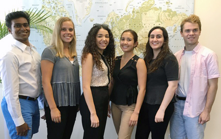 six of ILA's Interns