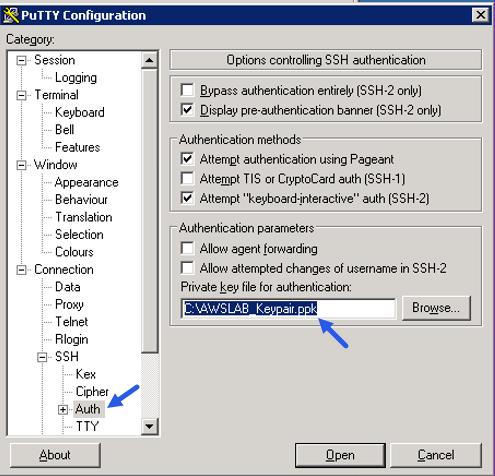 Putty SSH