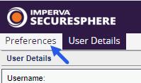 SecureSphere - User Preferences