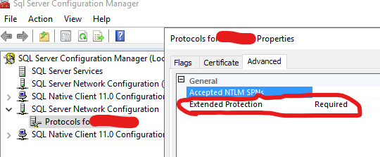 sql extended protection