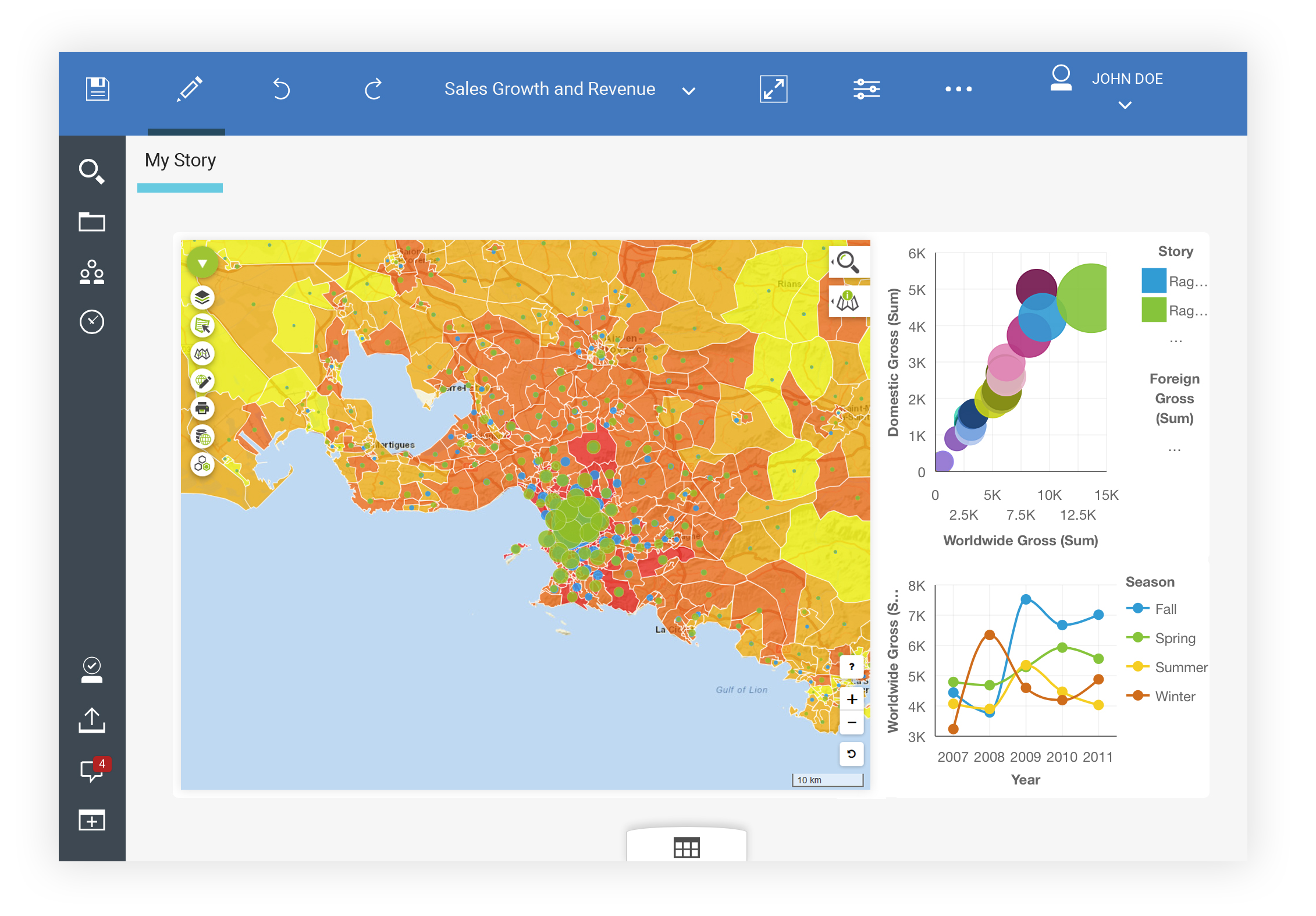 Galigeo for IBM Cognos ESRI Maps