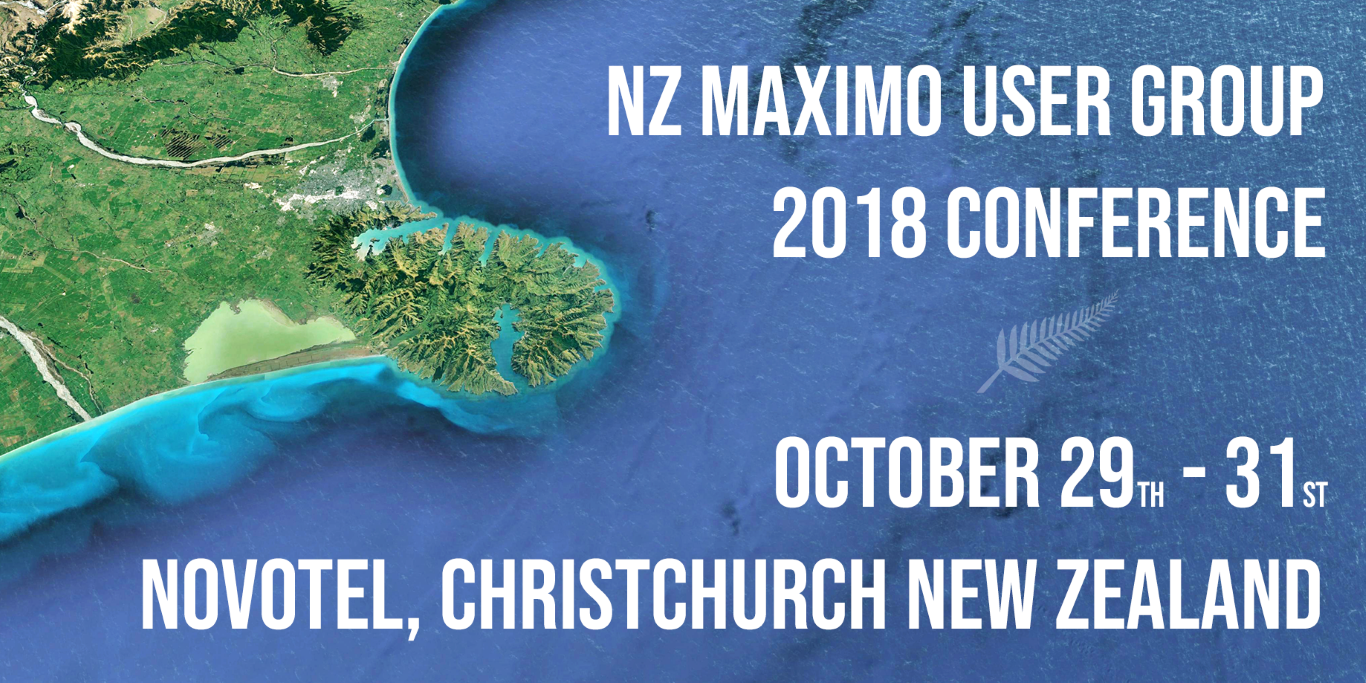 2018 NZ Maximo User Group Conference