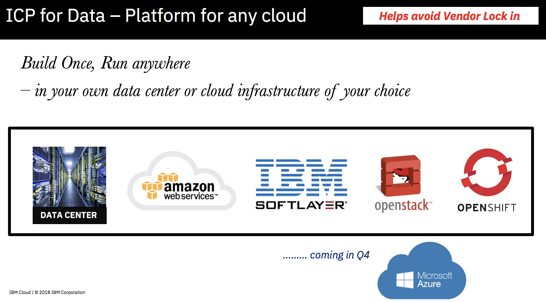 ICP for Data - Platform for any Cloud