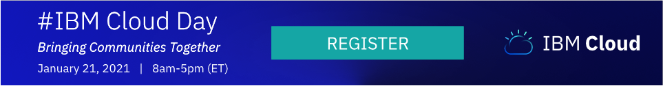 IBM Cloud Day 2021 event registration banner