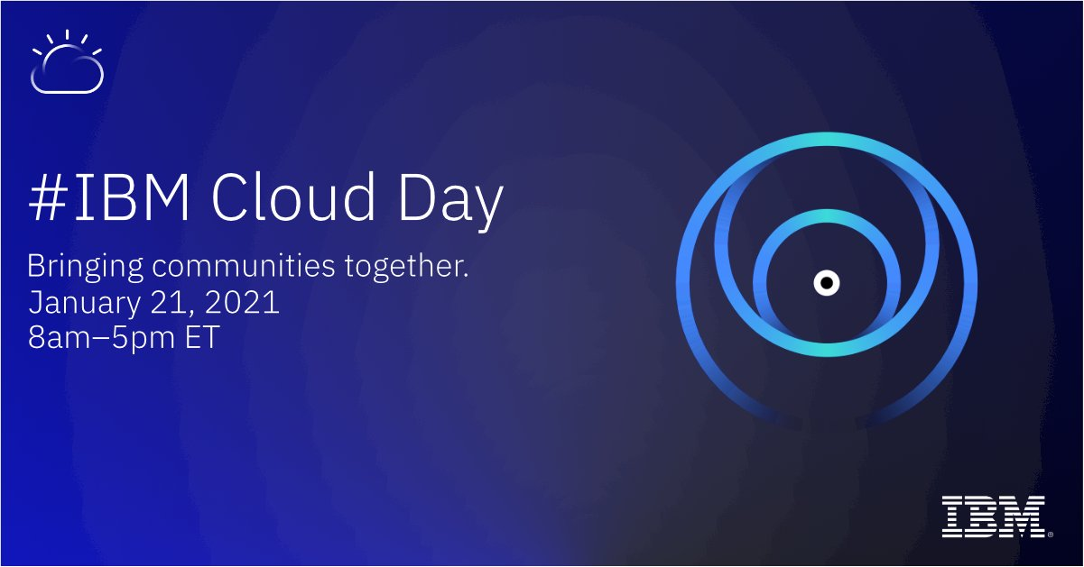 IBM Cloud Day banner Januar 21, 2021