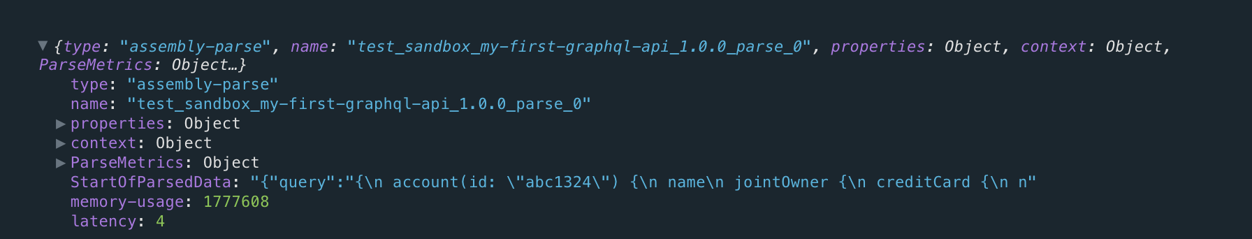Parse Policy Details with 4ms latency time
