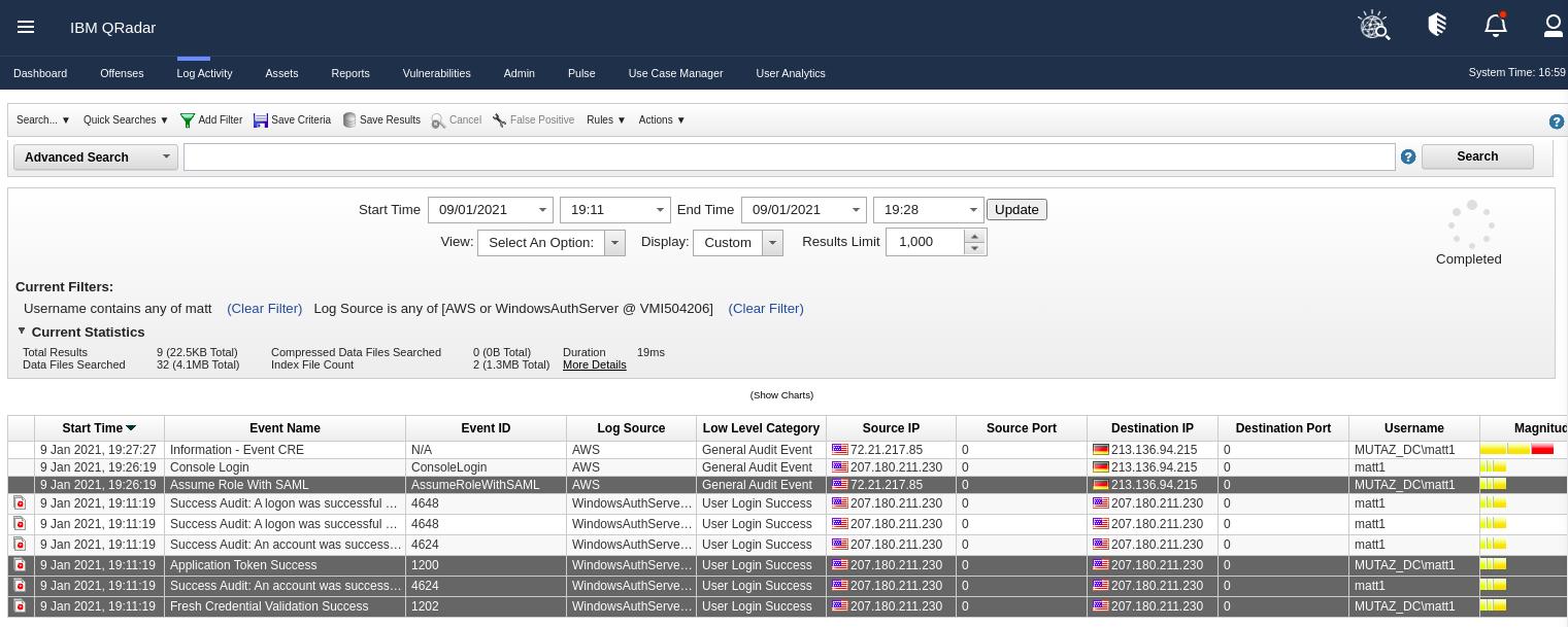Normal SAML Authentication Event Flow in QRadar
