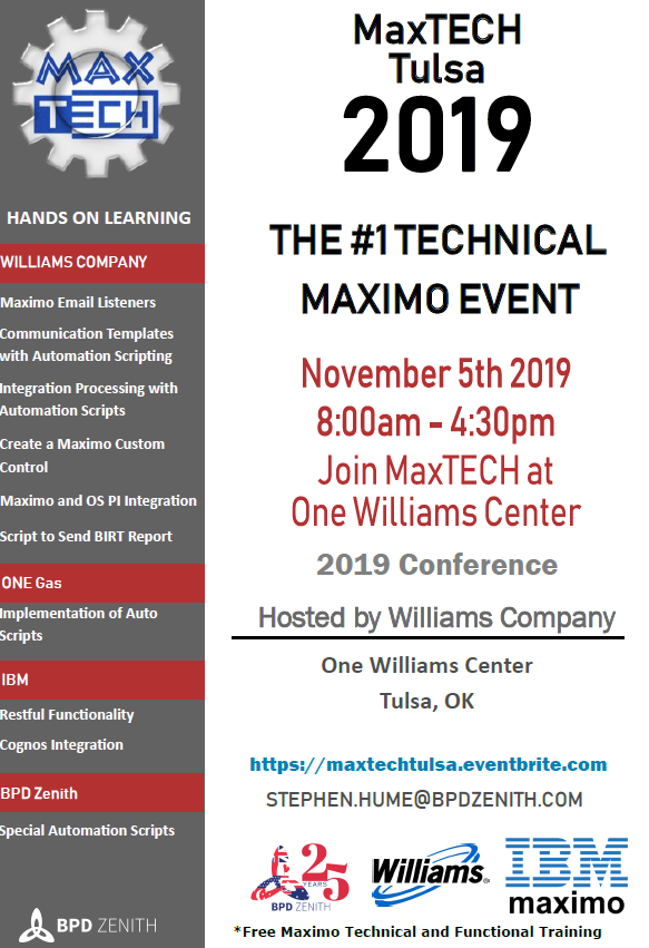 3 weeks to go until the full day MaxTECH User Conference in Tulsa!