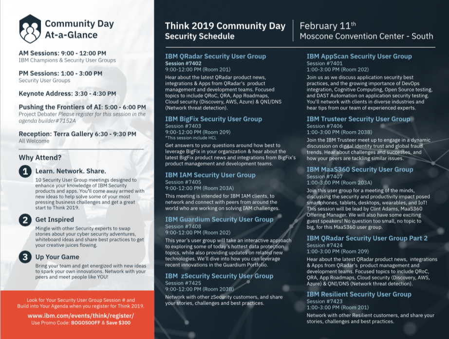 Join Us for Community Day at Think 2019 - Security