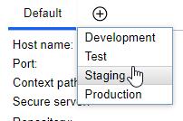 Server variable per environment type
