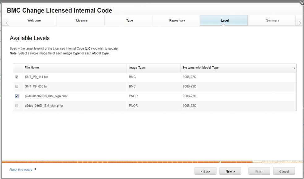 BMC Licensed Internal Code Available Levels