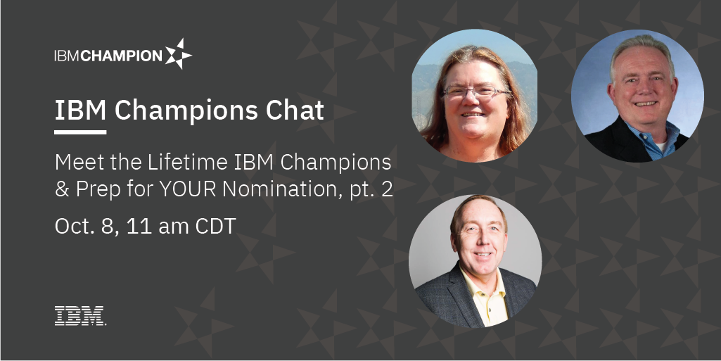 Image of IBM Champions Chat: Meet the Systems Lifetime Champions & Prep your nomination